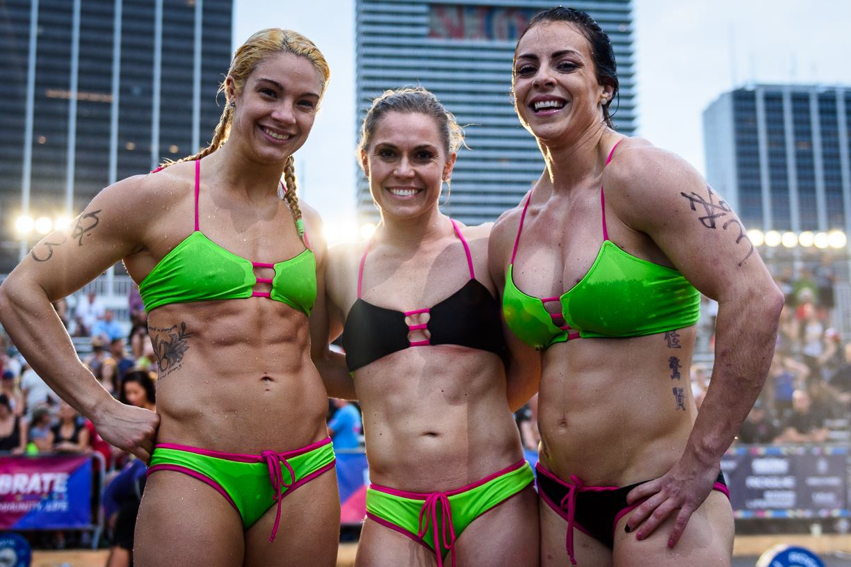 Wodapalooza athletes Celebrate during the competition