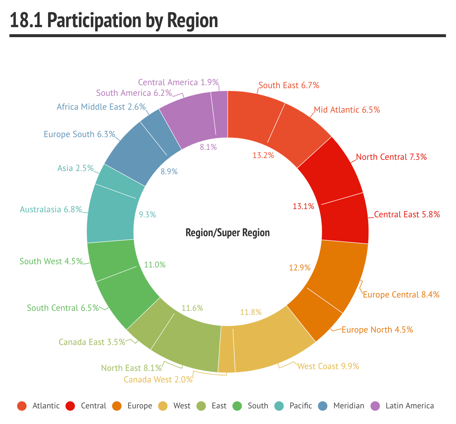 18.1 Participation by Region