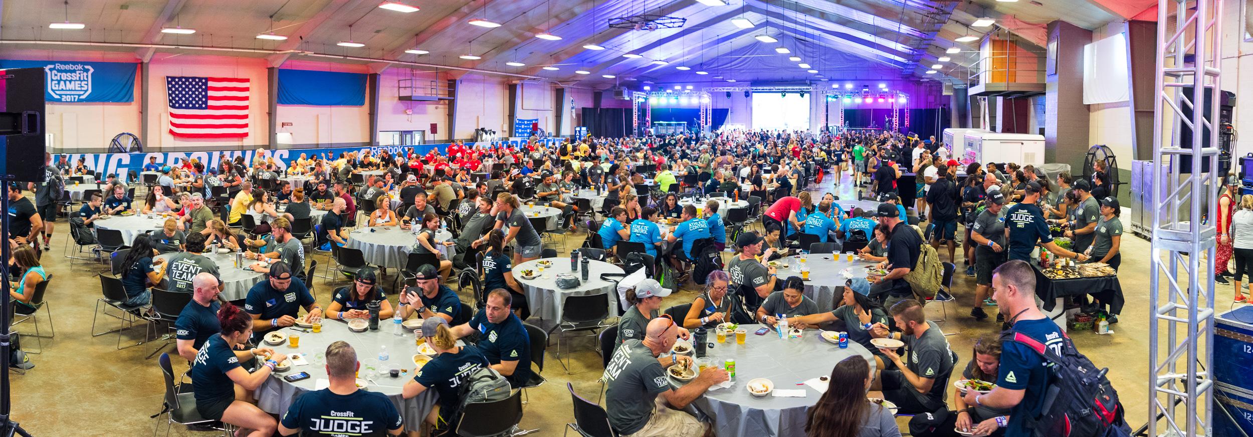 Hundreds of 2017 Reebok CrossFit Games volunteers