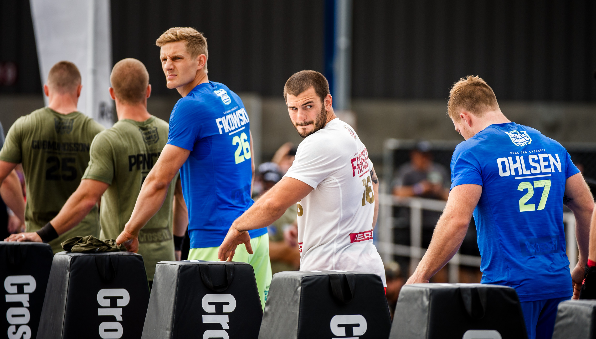 Mathew Fraser looks back before the start of the event at the CrossFit Games