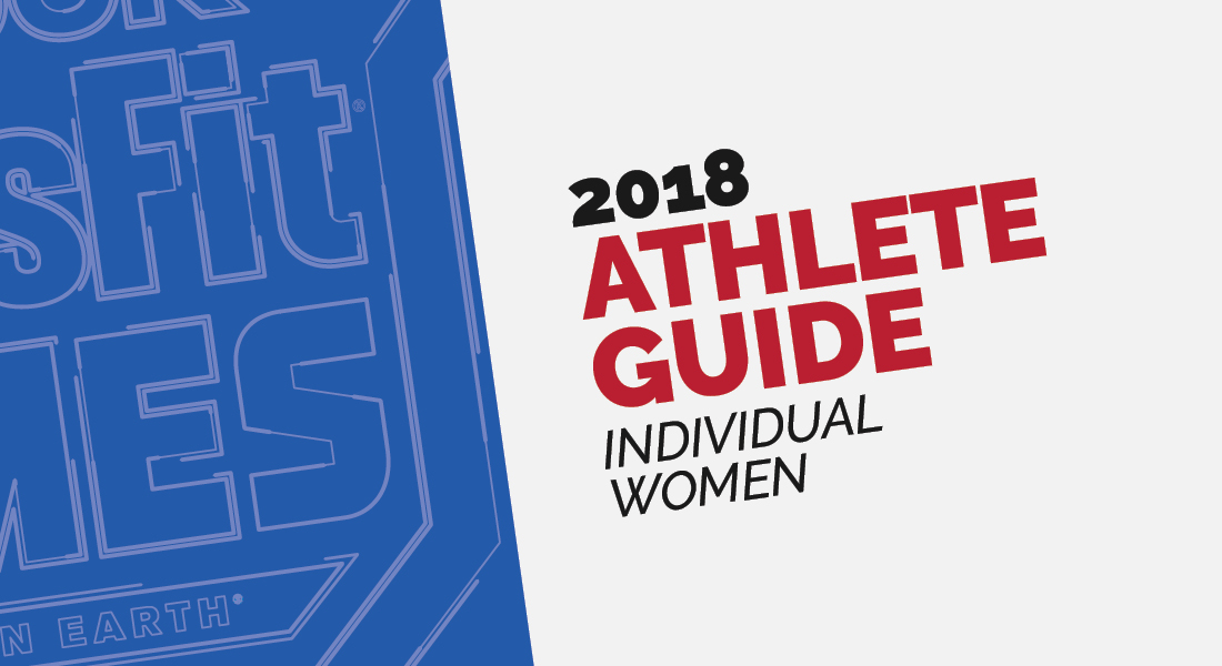 2018 Athlete Guide - Individual Women