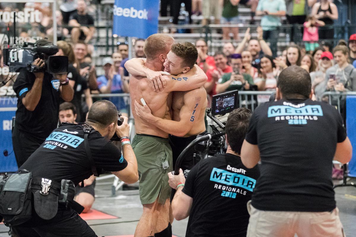 Saxon and Scott Panchik at the 2018 Games (Photo by Tai Randall)