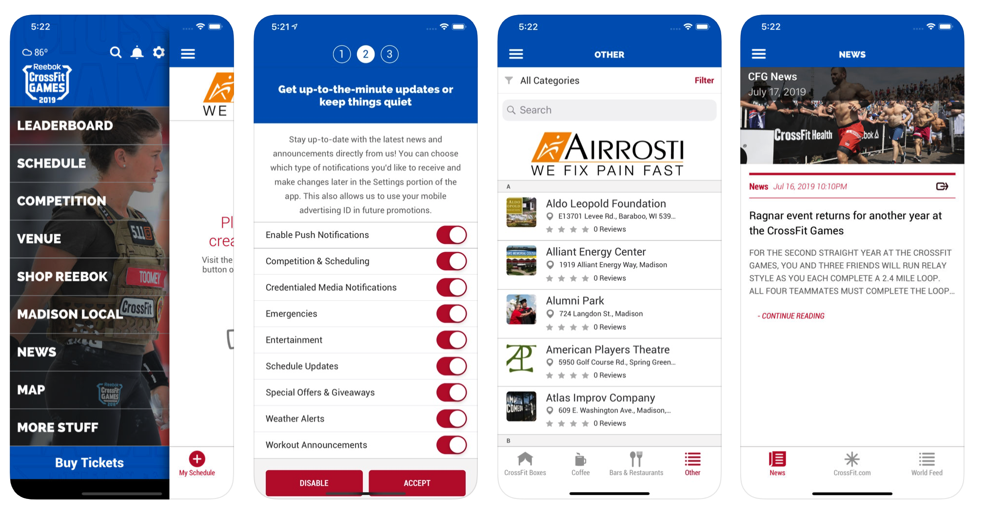 2019 Reebok CrossFit Games Event Guide App
