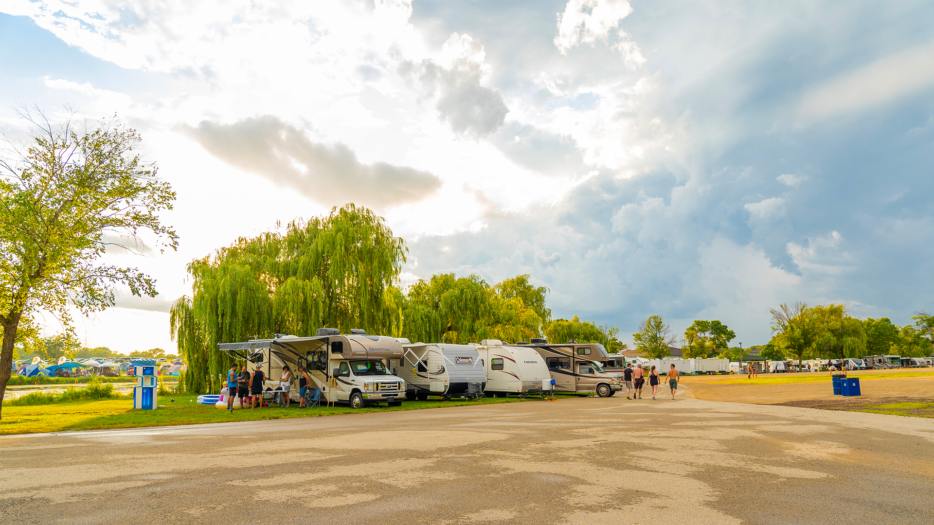 RV camping at the CrossFit Games