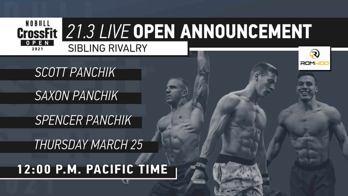 Time Change For Open Workout 21 3 Announcement Crossfit Games