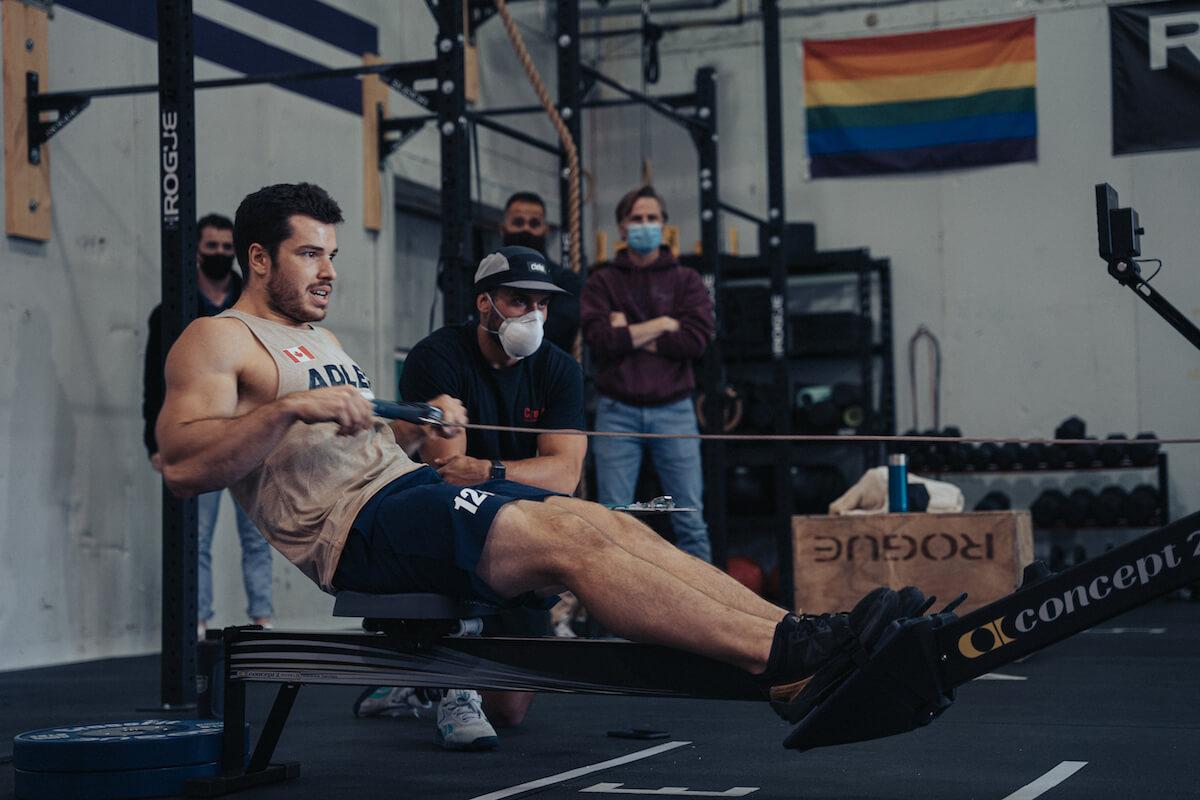 Jeffrey Adler rowing