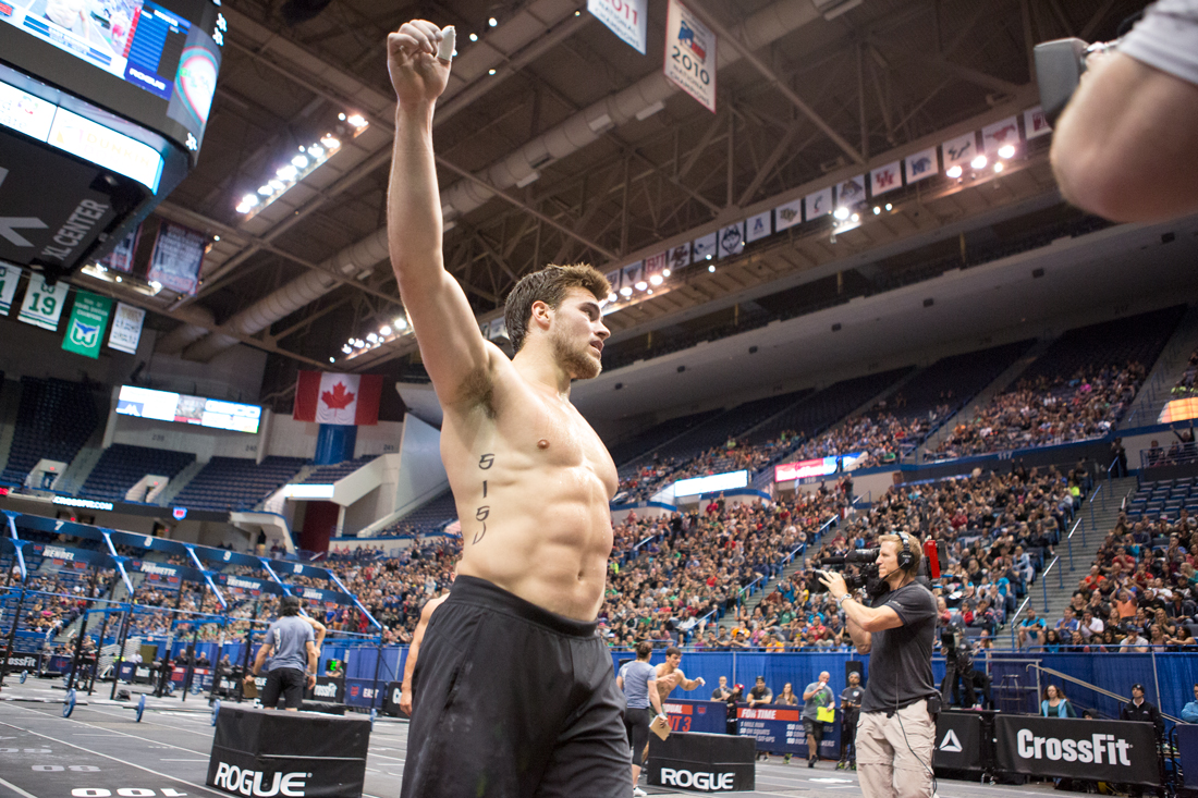 Alex Vigneault at the CrossFit Games.