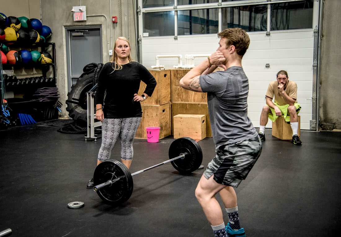 Coach and athlete at Bedrock CrossFit