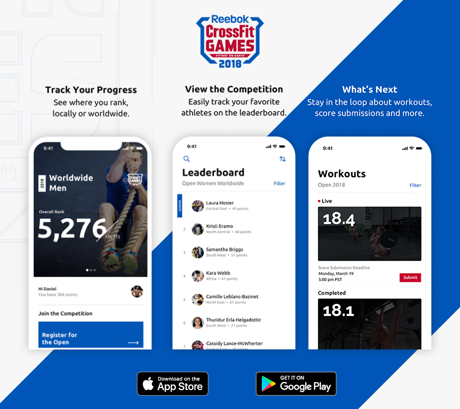 2018 Reebok CrossFit Games App Preview and Description of features