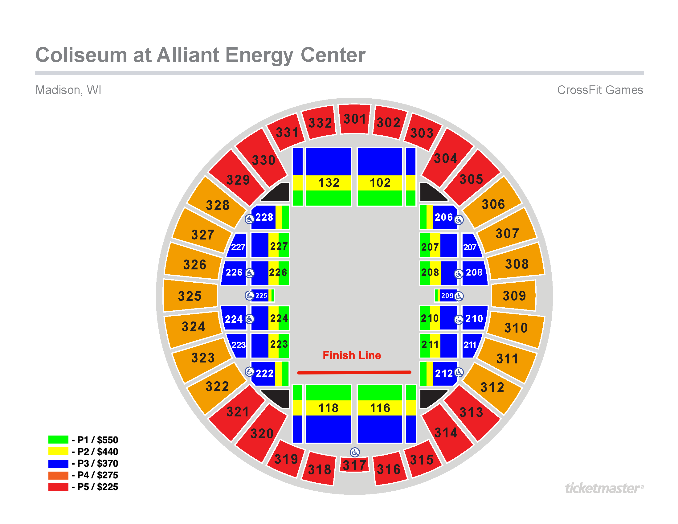 Coliseum Seating Map