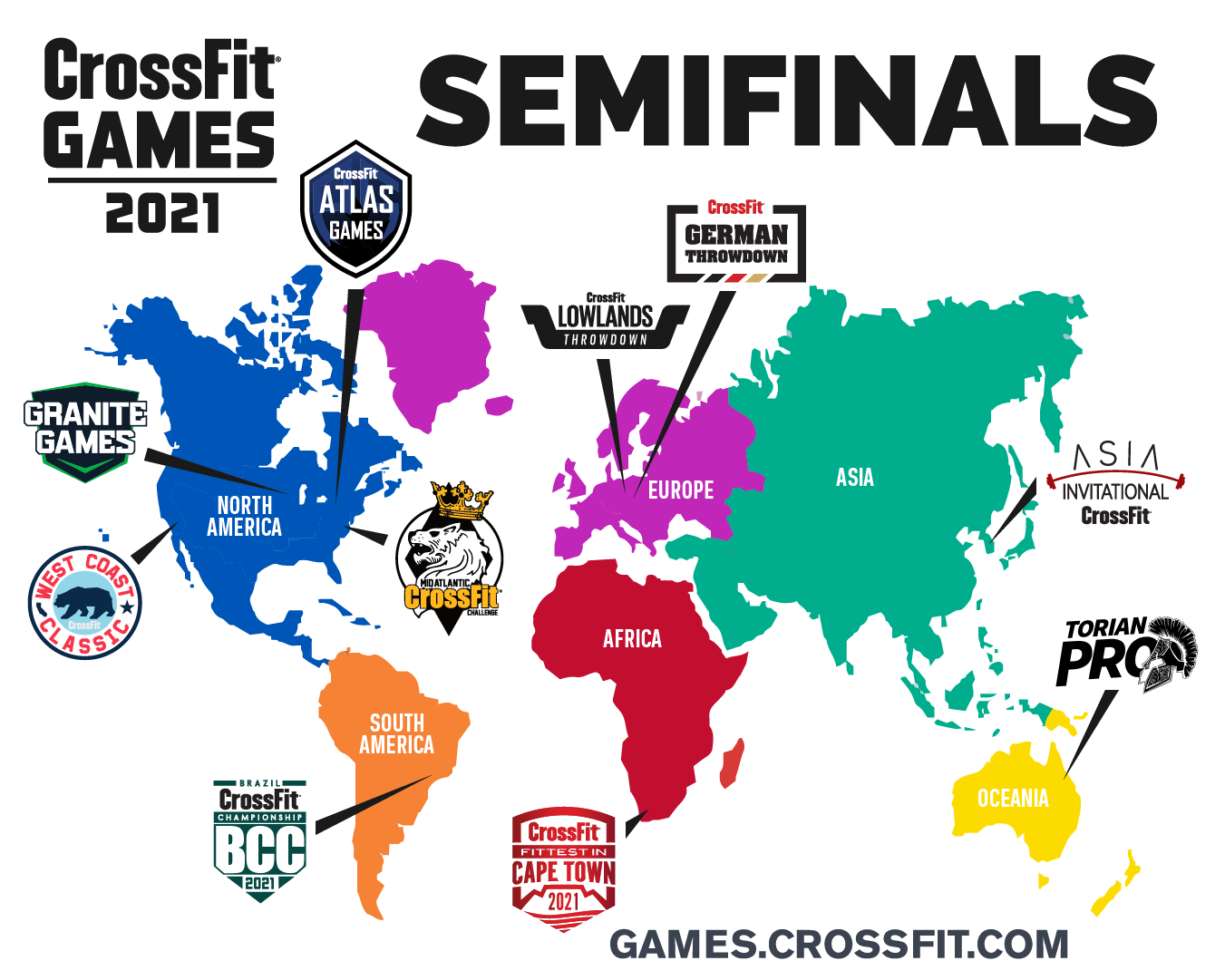 Map of Semifinals