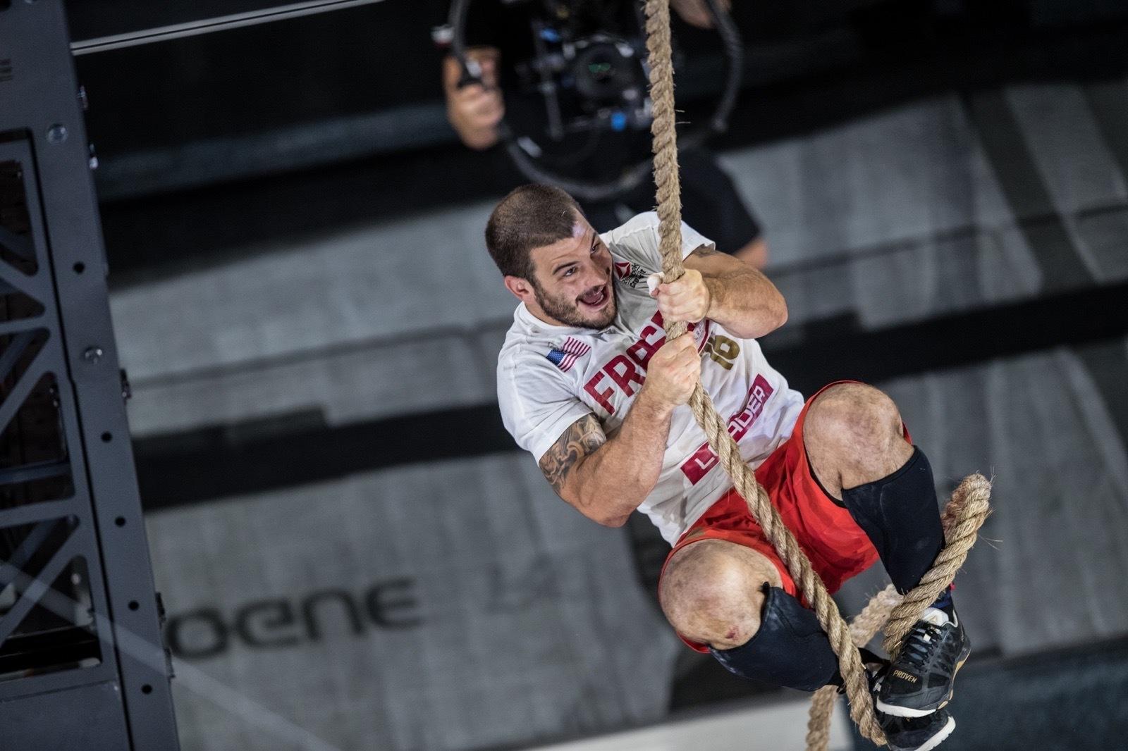 Mat Fraser climbing rope