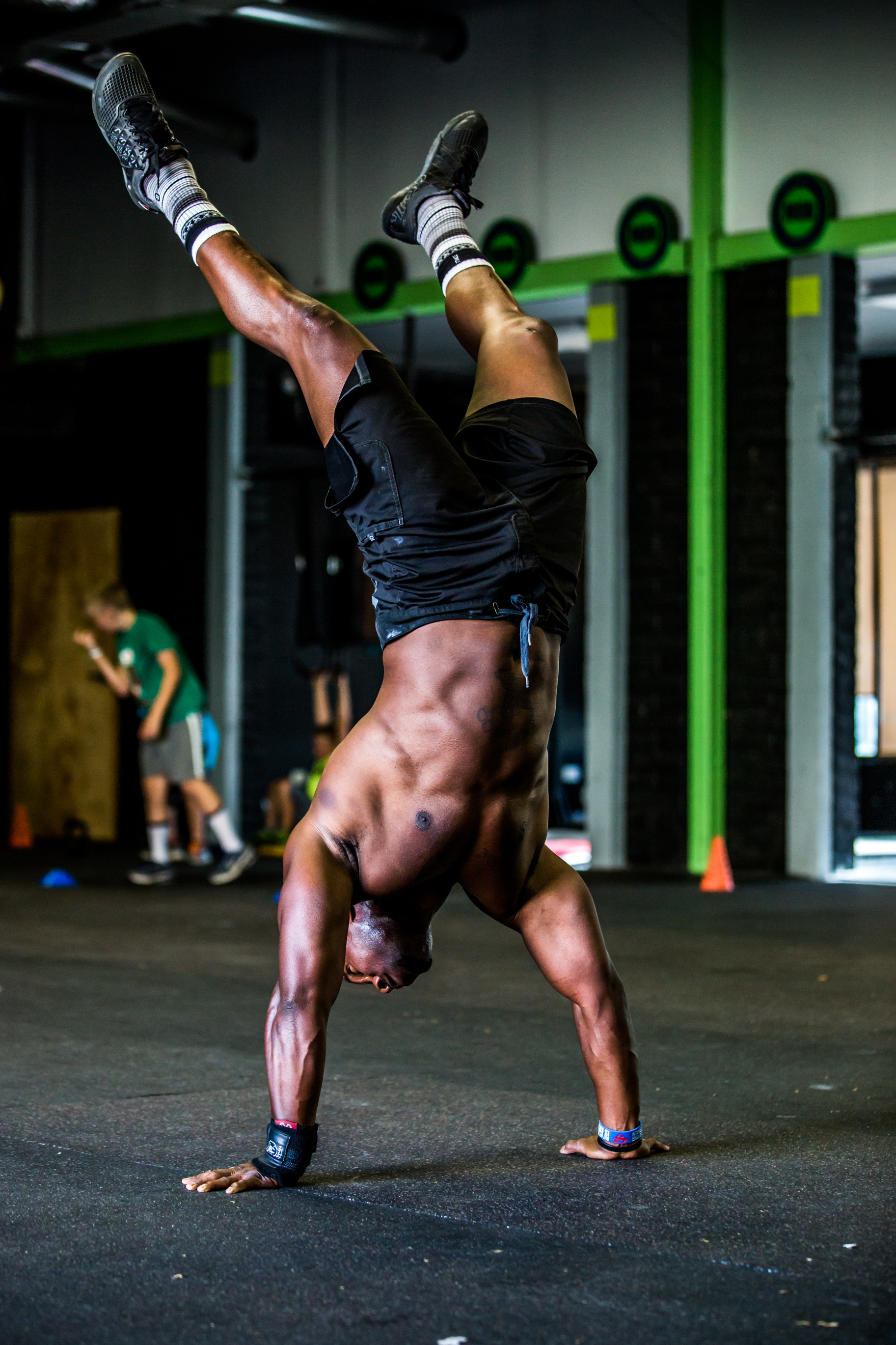 Athlete in a handstand