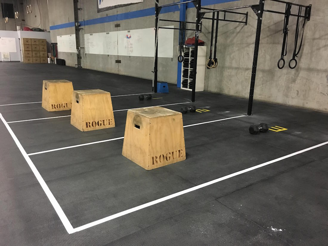 Coach Nick Shelton's Open workout setup (Nick Shelton)