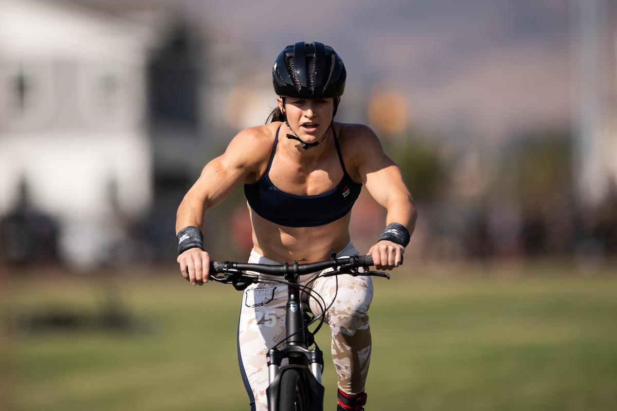 Kari Pearce on the bike