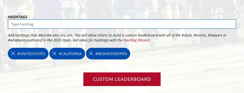 Irish in the Open - Hashtags