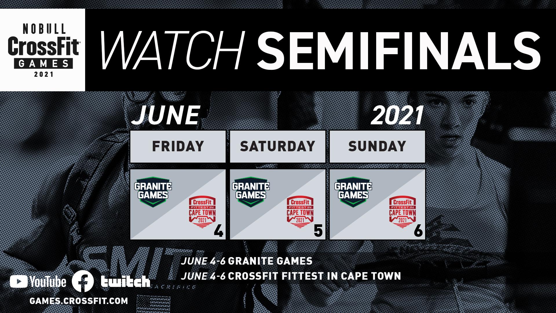Week 2 Semifinals Calendar