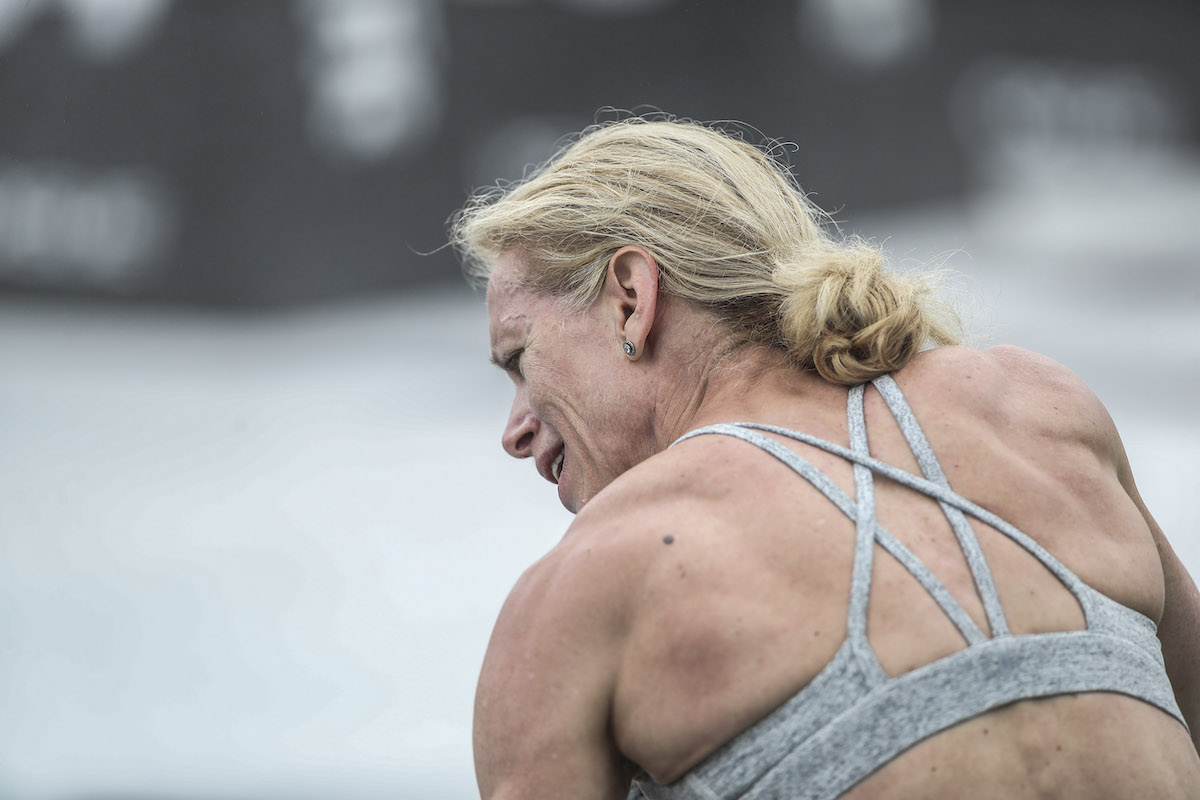 Susan Clarke at the CrossFit Games (Photo by Duke Loren Photography)
