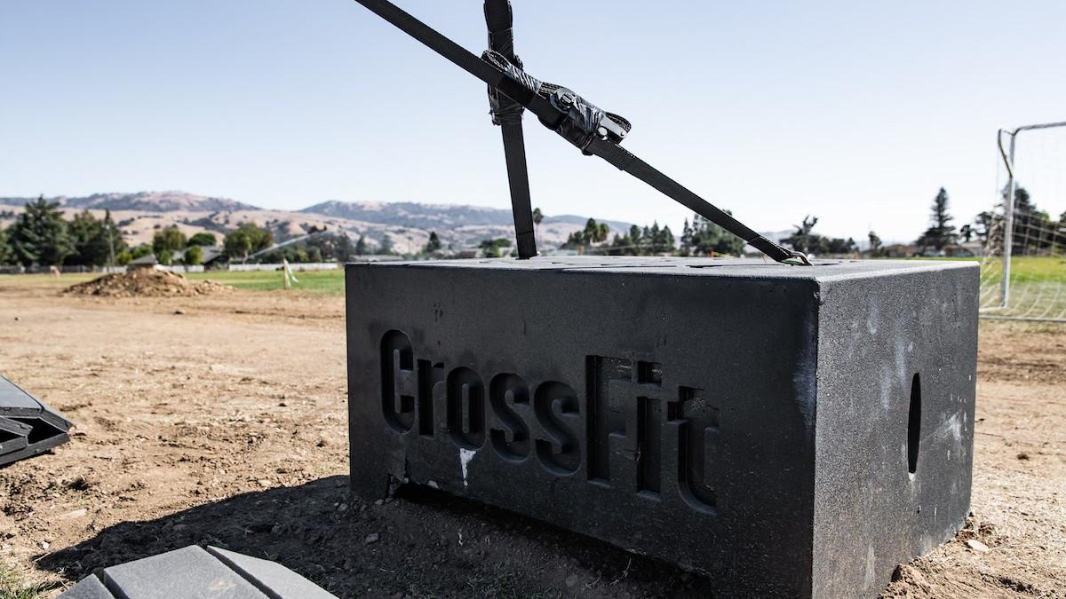 CrossFit block on field at 2020 CrossFit Games