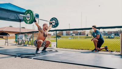 Mat Fraser in an overhead squat