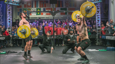 Rich Froning and Mat Fraser competing head to head