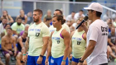 Castro talking to athletes