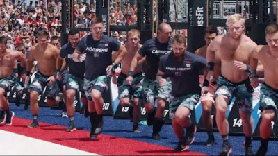 Men running at the Games