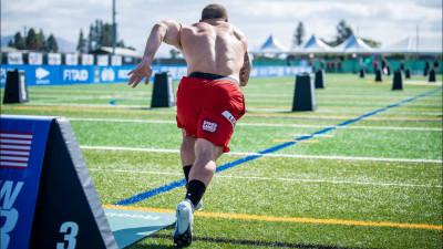 Mat Fraser sprinting
