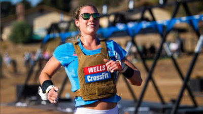 Brooke Wells running at the 2020 Games