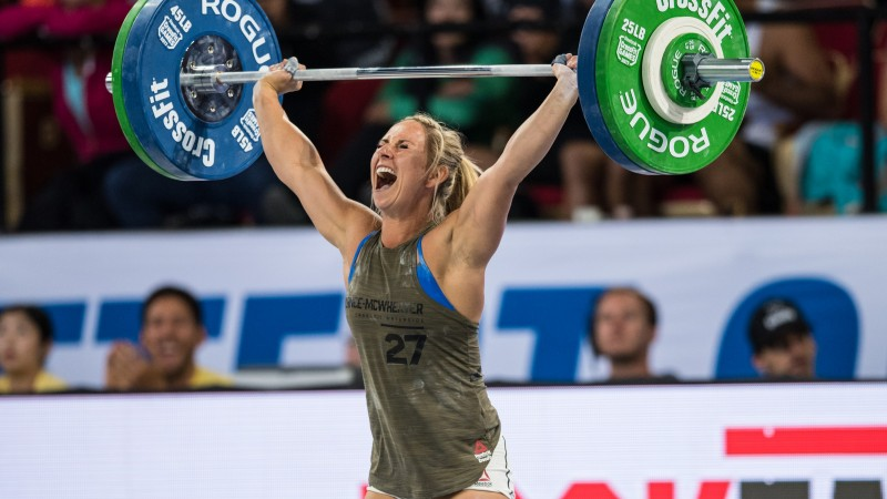 Cassidy Lance-Mcwherter Celebrates a PR Snatch at the 2017 CrossFit Games