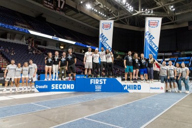 Team podium