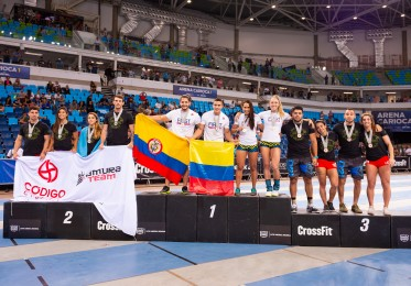 Team podium finishers at the end of Day 3 at the Latin America Regional.