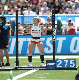 Laura Horvath during the CrossFit Total
