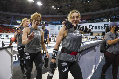 Masters women leave the competition floor