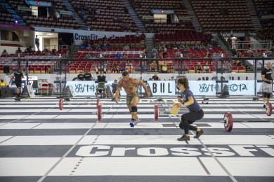 Athlete crossing the finish line