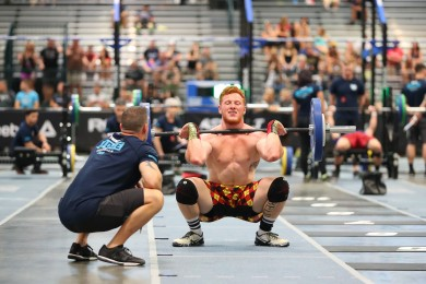 Rookie Drew Wayman edges out Mat Fraser in Day 1 standings.