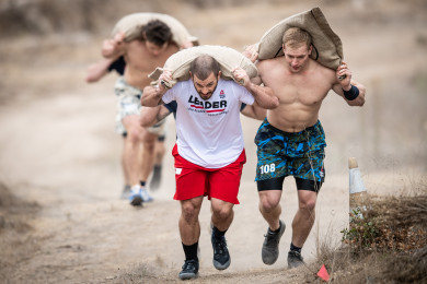 Mat Fraser during Corn Sack Sprint