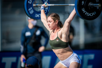 Brooke Wells during Snatch Speed Triple