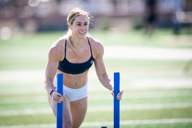 Brooke Wells during Sprint Sled Sprint