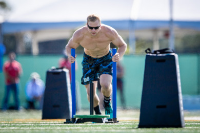 Samuel Kwant during Sprint Sled Sprint