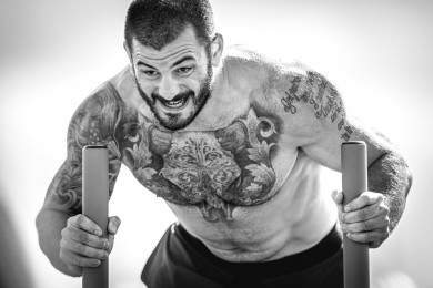Mat Fraser during Sprint Sled Sprint