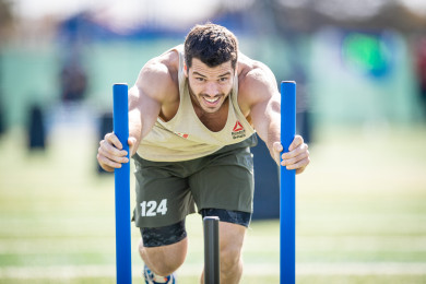 Jeffrey Adler during Sprint Sled Sprint