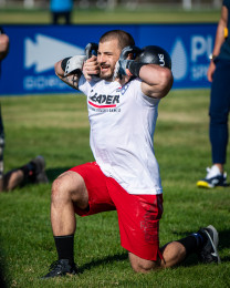 Mat Fraser during Toes-to-Bar/Lunge