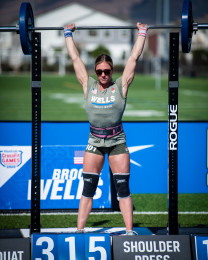 Brooke Wells during CrossFit Total