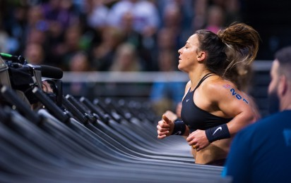 Kara Saunders is chasing down the Fittest Woman on Earth after Day 1.