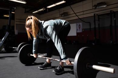 Kristi Eramo O'Connell training at CrossFit Santa Cruz Central pre 21.1 announcement