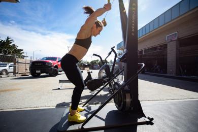 Kari Pearce training at CrossFit Santa Cruz Central pre 21.1 announcement