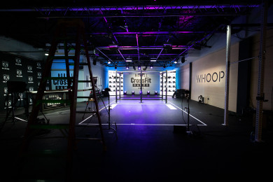 The set for the live announcement of Open Workout 21.1
