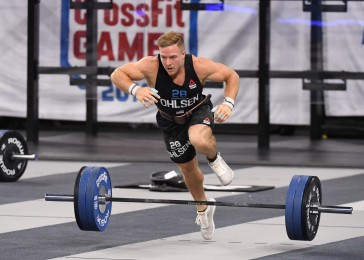 Noah Ohlsen during Clean and Jerk Speed Ladder
