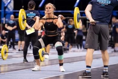 Sara Sigmundsdottir, in second place after two events